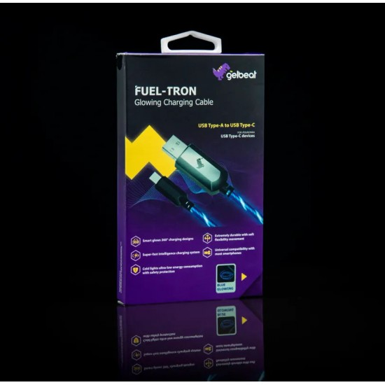 FUEL-TRON GLOWING - Cable de Carga USB Tipo-A a USB Tipo-C
