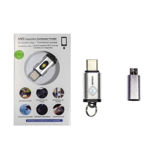 UVC LED Sanitizadora TIPO USB C + Adaptador